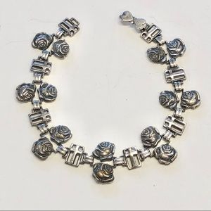 Jewelry - Vintage Double Rose Station of the Cross Bracelet